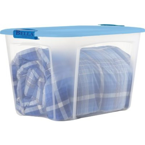 Bella Storage Solution 121-Quart Container, Clear with Locking Lid