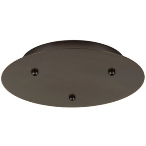 Round Fusion Jack Canopy [Finish : Bronze; Option : 3 Lights; Light Option : Halogen-Xenon]
