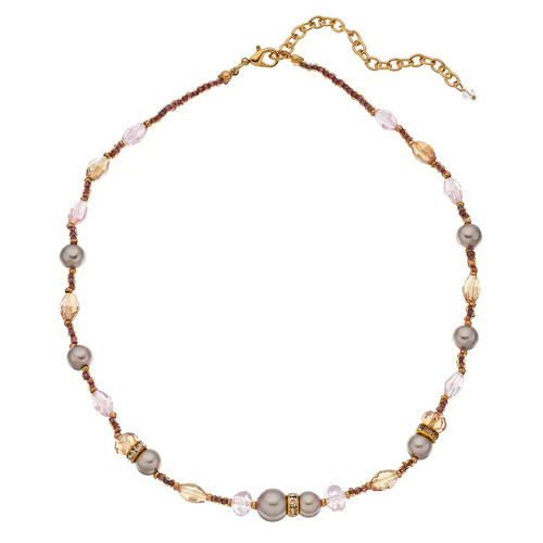 Napier Simulated Pearl & Bead Collar Necklace