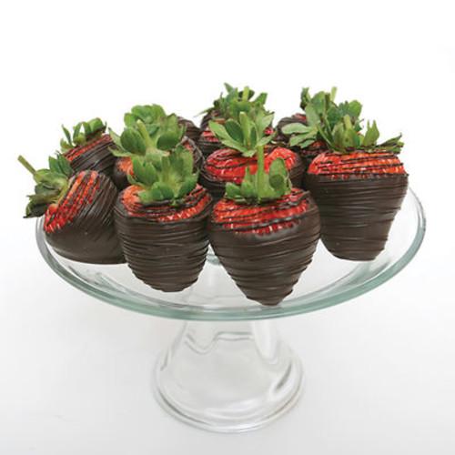 Belgian Dark Chocolate Covered Strawberries - 12 Count