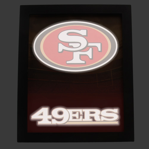 NFL Glow Wall Sign - San Francisco 49ers