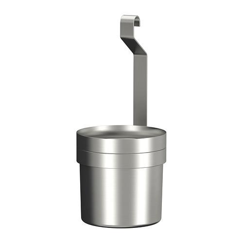 GRUNDTAL Utensil holder, stainless steel