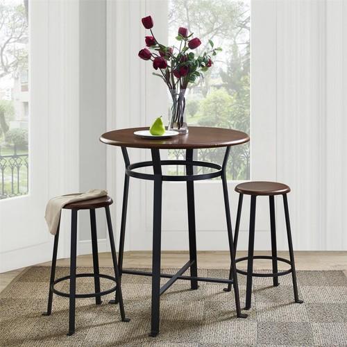 Dorel Home Furnishings Montgomery Dark Mahogany 3-Piece Dining Set