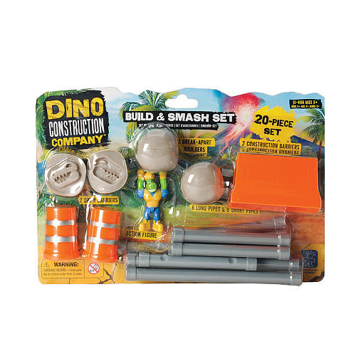 Educational Insights Dino Construction Build & Smash Set