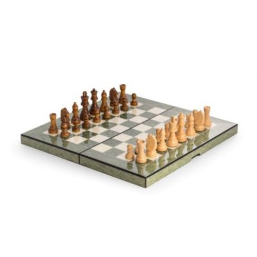 Bey-Berk Lacquered Wood Multi-Game Set