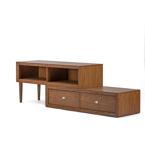 Baxton Studio Bainbridge Walnut Wood Contemporary TV Stand