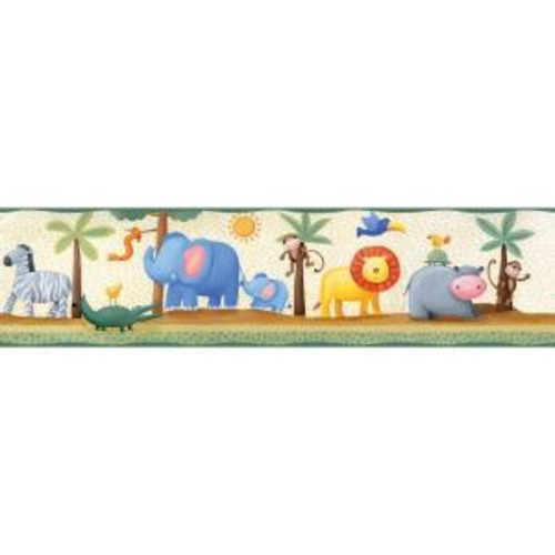 RoomMates Yards Jungle Adventure Peel and Stick Wallpaper Border