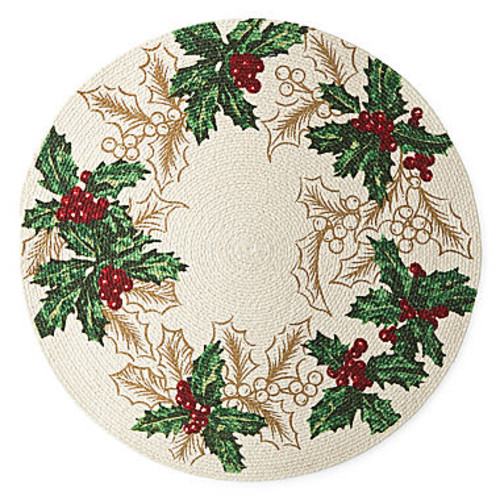 North Pole Trading Co. Holly Border 4-pc. Placemat