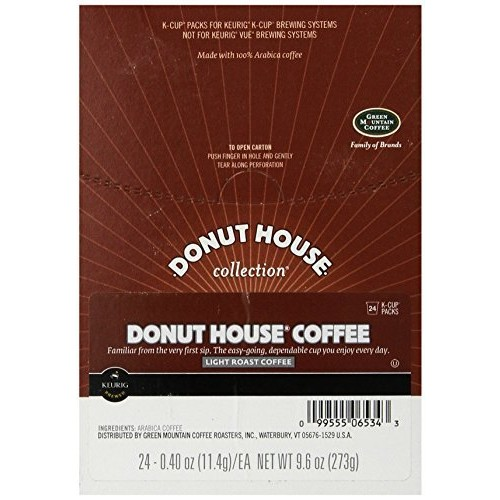 Donut House Collection Green Mountain Coffee Light Roast Coffee, K-Cup Portion Count for Keurig K-Cup Brewers, 24-Count [24 Count]