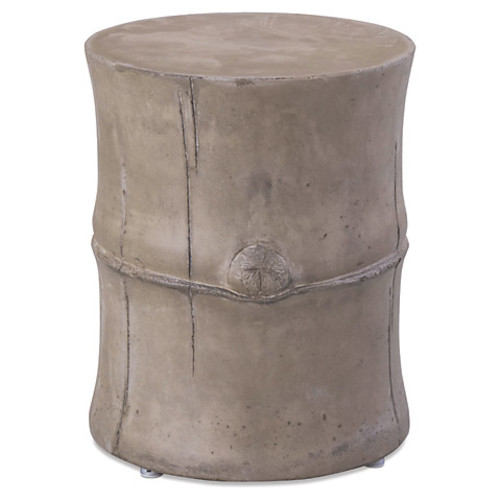 Bamboo Outdoor Side Table, Slate Gray