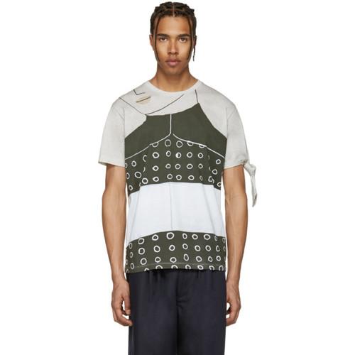 SSENSE Exclusive Grey Kelly Beeman Edition Single Knot T-Shirt
