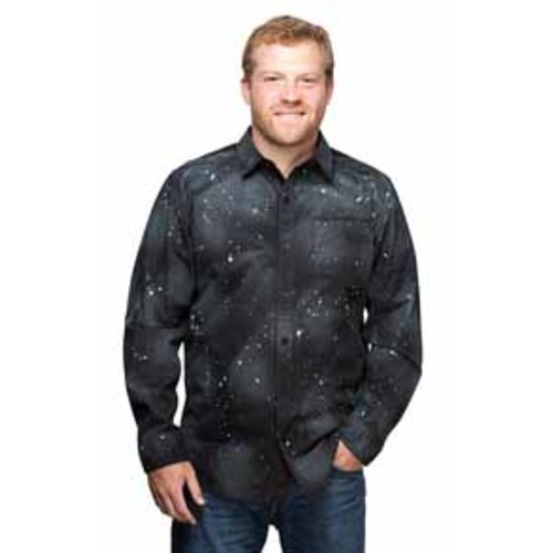 Star Trek Final Frontier Dress Shirt Black L