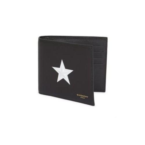 GIVENCHY Star Print Leather Wallet