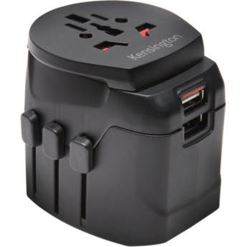 Grounded International Travel Adapter with Dual USB Ports
