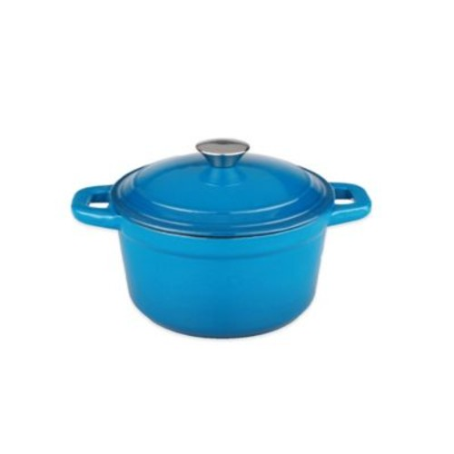 BergHOFF Neo 5 qt. Cast Iron Covered Stock Pot in Orange