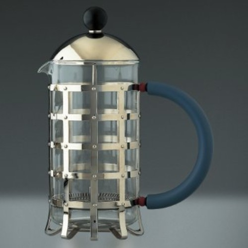 Michael Graves Press Coffee Maker [Finish : Mirror Polished;   color : Blue]
