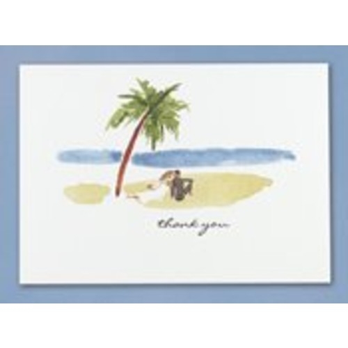Hortense B. Hewitt Wedding Accessories Paradise Thank You Cards, 50-Pack [Paradise]