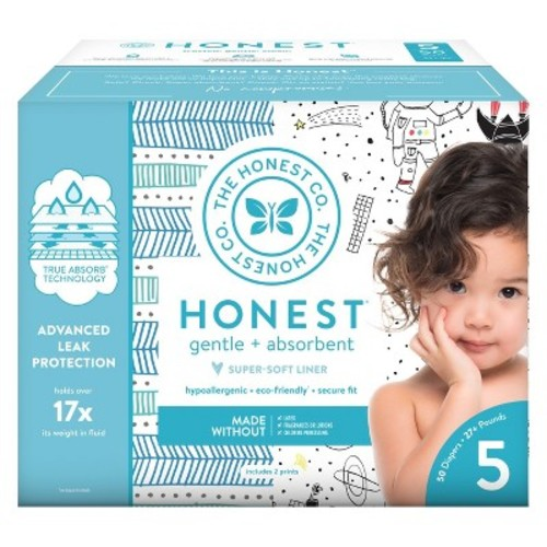 Honest Company Club Pack Diapers, Workshop + T-Rex - Size 5 (50 Count)