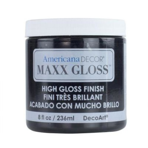 DecoArt Americana Decor Maxx Gloss 8 oz. Patent Leather Paint