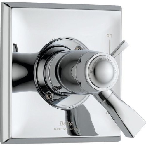 Delta Dryden TempAssure 17T Series 1-Handle Volume and Temperature Control Valve Trim Kit Only in Chrome (Valve Not Included) - Shower Kits