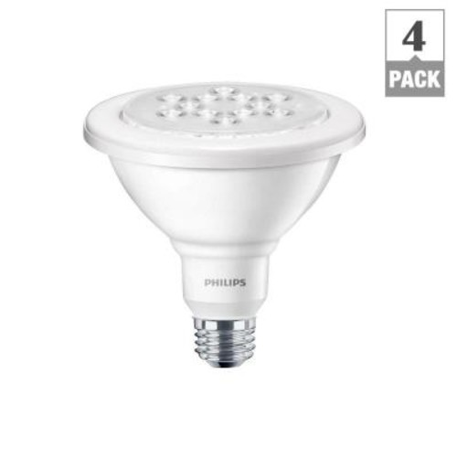 Philips 100W Equivalent Daylight (5000K) PAR38 Wet-Rated Outdoor and Security LED Flood Light Bulb (4-Pack)