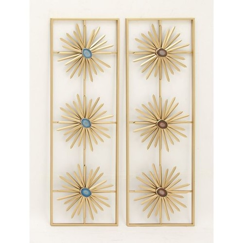 Elegant Metal Resin Wall Decor Assorted 2