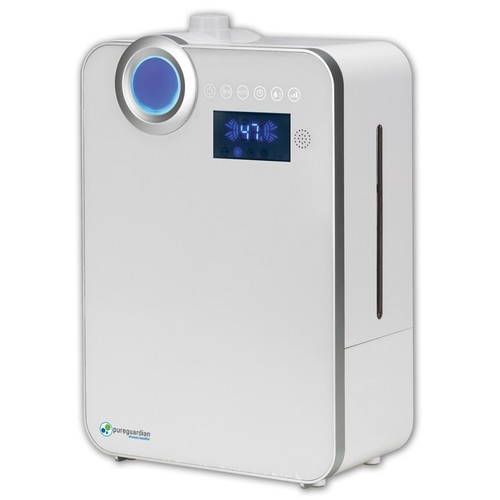 PureGuardian - 1.3-Gal. Ultrasonic Warm and Cool Mist Humidifier - White