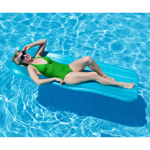 Aqua Cell Deluxe 1.75-in Thick Cool Pool Float - Aqua