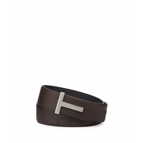 TOM FORD T-Buckle Calf Leather Belt