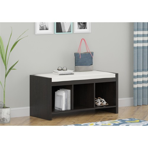 Good To Go Entryway Storage Bench with Cushion - Espresso