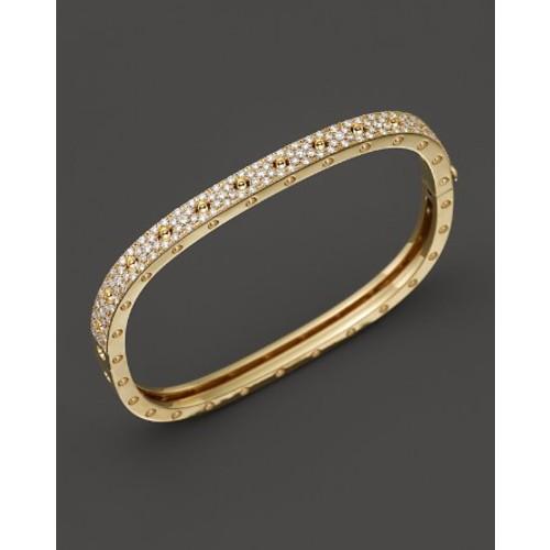 18K Yellow Gold and Diamond Pois Moi Single Bangle, 1.35 ct. t.w.