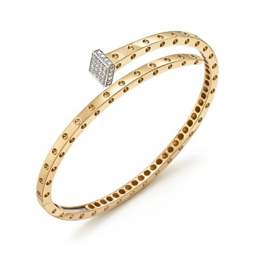 18K Yellow and White Gold Pois Moi Chiodo Bangle with Diamonds - 100% Exclusive