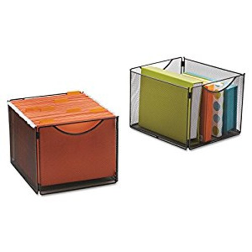 Safco Products 2173BL Onyx Mesh Cube Bins for use with Onyx Mesh Cubes 2172BL, sold separately, Black [Cube Bin]