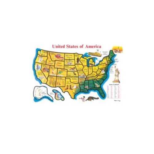 Melissa & Doug - 48-Piece United States Map Cardboard Floor Puzzle
