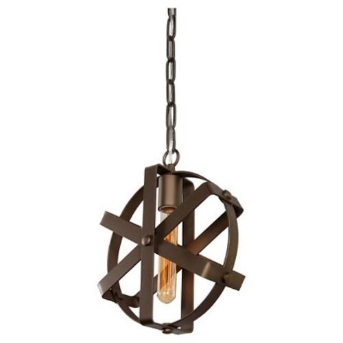 Reel 1 Light Mini Pendant - Rustic Bronze