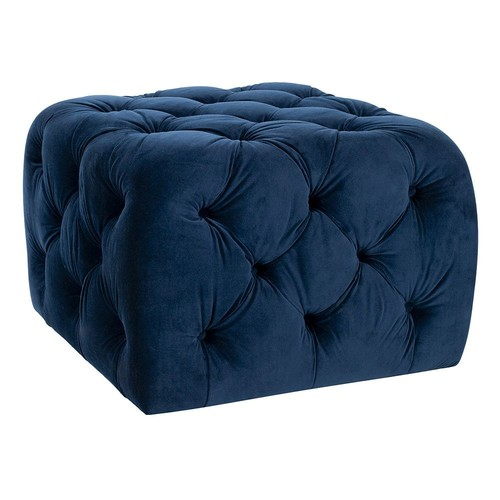 Kenan Ottoman by Safavieh [Upholstery : Navy]