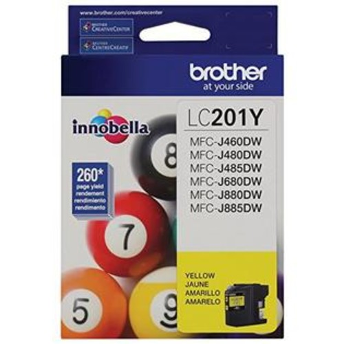 BROTHER INT L (SUPPLIES) LC201Y LC201Y YELLOW INK CARTRIDGE