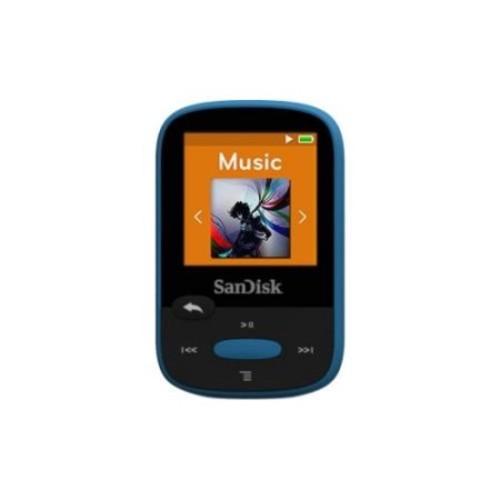 SanDisk Clip Sport SDMX24-008G 8 GB Flash MP3 Player - Blue - FM Tuner - 1.4