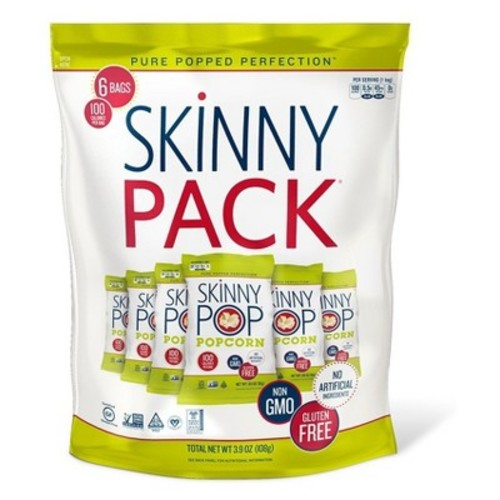 SkinnyPop Popcorn Skinny Pack - 6ct 3.9oz