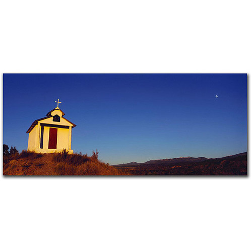 Preston 'Church with Moon' Gallery-wrapped Canvas Art