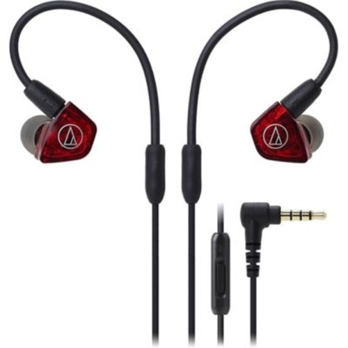 Audio-Technica In-Ear Dual Armature Driver Headphones with In-line Mic & Control
