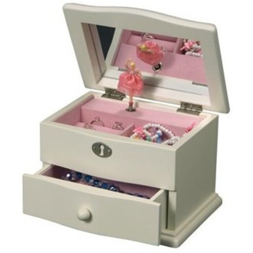 Mele & Co. Marianne Girl's Wooden Musical Ballerina Jewelry Box