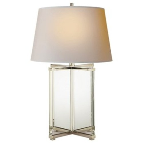 Cameron Table Lamp [Finish : Polished Nickel with Crystal]