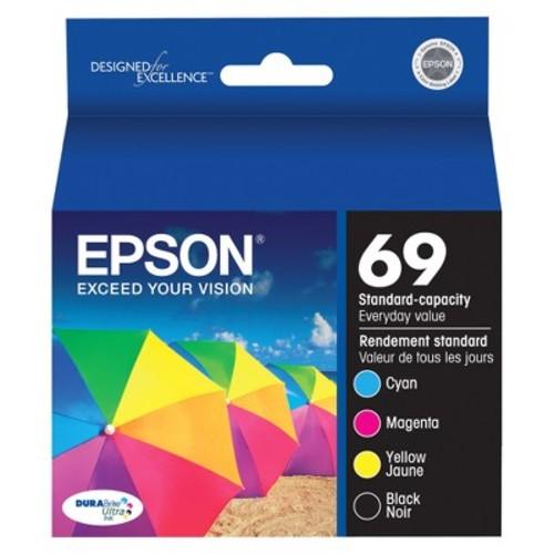 Epson DURABrite Ultra 69 Standard-Capacity Multicolor Ink Cartridges 4-ct.