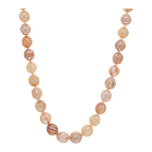 Honora Cultured Pearl Carved Ming 20\