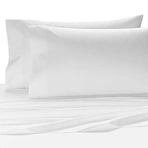Kassatex Fiesole Italian-Made Queen Fitted Sheet in White