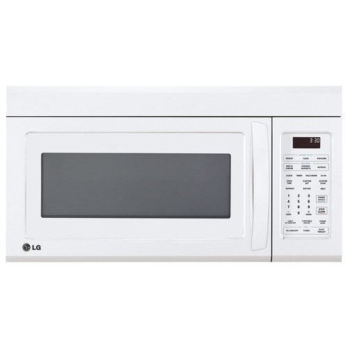 LG - 1.8 Cu. Ft. Over-the-Range Microwave - Smooth White