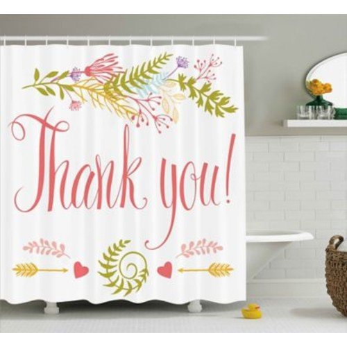 Varick Gallery Banister Quote w/ Flowers Leaf Shower Curtain; 69'' W x 70'' L
