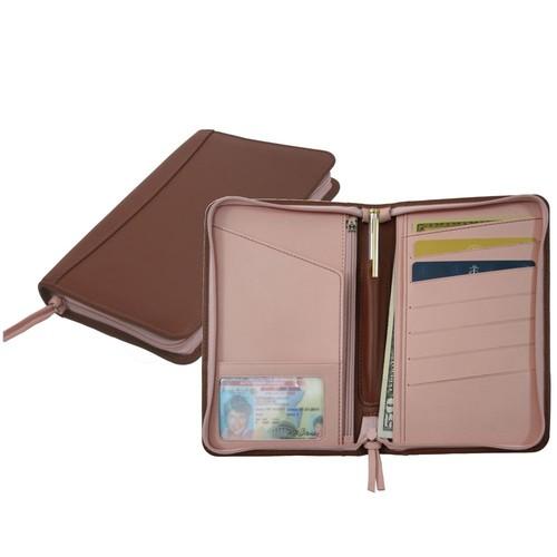 Royce Leather Passport Travel Wallet