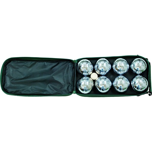 Classic Game Collection 8 Ball 73mm Bocce/Boules Set with Canvas Storage Case